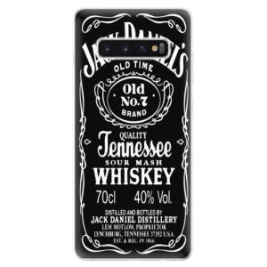 Silikonové odolné pouzdro iSaprio Jack Daniels na mobil Samsung Galaxy S10 Plus