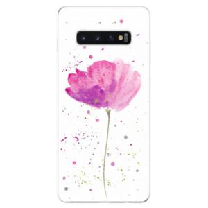 Silikonové odolné pouzdro iSaprio Vlčí Mák na mobil Samsung Galaxy S10 Plus