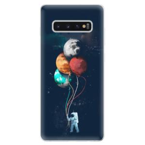Silikonové odolné pouzdro iSaprio Balónky 02 na mobil Samsung Galaxy S10 Plus