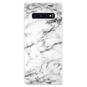 Silikonové odolné pouzdro iSaprio Bílý Mramor 01 na mobil Samsung Galaxy S10 Plus