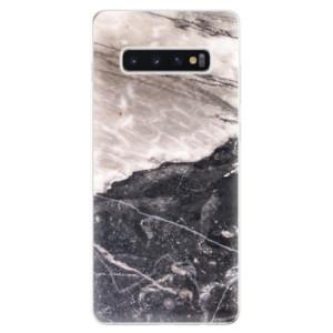 Silikonové odolné pouzdro iSaprio BW Mramor na mobil Samsung Galaxy S10 Plus