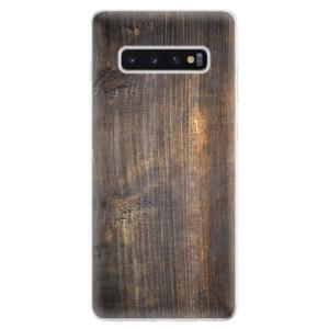Silikonové odolné pouzdro iSaprio Staré Dřevo na mobil Samsung Galaxy S10 Plus