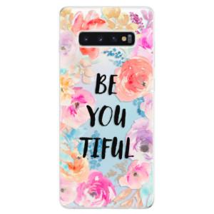 Silikonové odolné pouzdro iSaprio BeYouTiful na mobil Samsung Galaxy S10 Plus