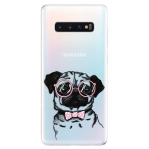 Silikonové odolné pouzdro iSaprio Mops na mobil Samsung Galaxy S10 Plus