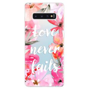 Silikonové odolné pouzdro iSaprio Love Never Fails na mobil Samsung Galaxy S10 Plus