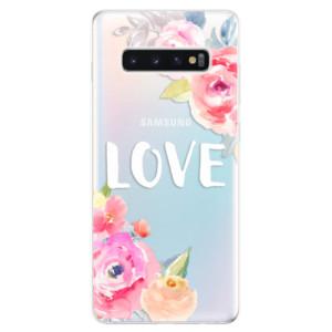 Silikonové odolné pouzdro iSaprio Love na mobil Samsung Galaxy S10 Plus