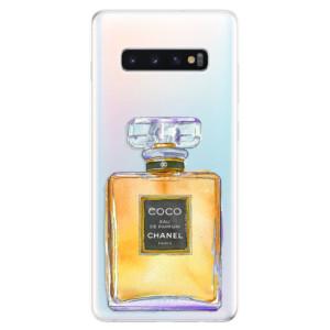 Silikonové odolné pouzdro iSaprio Chanel Gold na mobil Samsung Galaxy S10 Plus