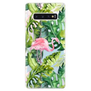 Silikonové odolné pouzdro iSaprio Plameňák v Džungli 02 na mobil Samsung Galaxy S10 Plus