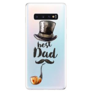 Silikonové odolné pouzdro iSaprio Best Dad na mobil Samsung Galaxy S10 Plus