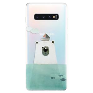 Silikonové odolné pouzdro iSaprio Medvěd s Lodí na mobil Samsung Galaxy S10 Plus