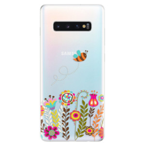 Silikonové odolné pouzdro iSaprio Včelka Pája 01 na mobil Samsung Galaxy S10 Plus
