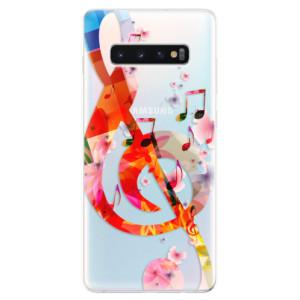 Silikonové odolné pouzdro iSaprio Houslový Klíč 01 na mobil Samsung Galaxy S10 Plus
