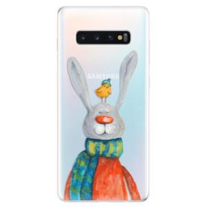 Silikonové odolné pouzdro iSaprio Králík a Pták na mobil Samsung Galaxy S10 Plus