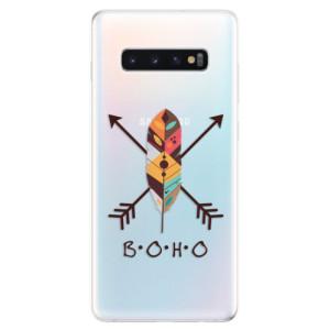 Silikonové odolné pouzdro iSaprio BOHO na mobil Samsung Galaxy S10 Plus