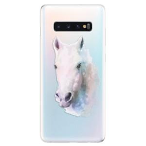 Silikonové odolné pouzdro iSaprio Bílý kůň 01 na mobil Samsung Galaxy S10 Plus
