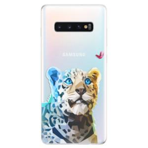 Silikonové odolné pouzdro iSaprio Leopard s Motýlkem na mobil Samsung Galaxy S10 Plus