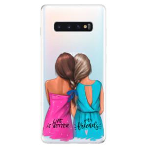 Silikonové odolné pouzdro iSaprio Best Friends na mobil Samsung Galaxy S10 Plus