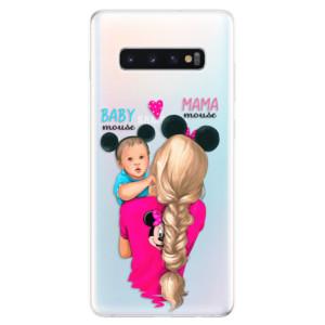 Silikonové odolné pouzdro iSaprio Mama Mouse Blonde and Boy na mobil Samsung Galaxy S10 Plus
