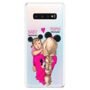 Silikonové odolné pouzdro iSaprio Mama Mouse Blond and Girl na mobil Samsung Galaxy S10 Plus