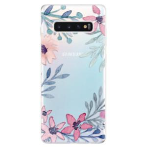Silikonové odolné pouzdro iSaprio Kvítky a Lístky na mobil Samsung Galaxy S10 Plus