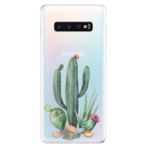 Silikonové odolné pouzdro iSaprio Kaktusy 02 na mobil Samsung Galaxy S10 Plus