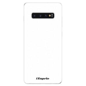 Silikonové odolné pouzdro iSaprio 4Pure bílé na mobil Samsung Galaxy S10 Plus