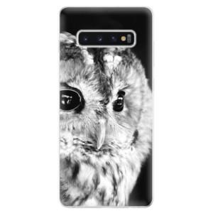 Silikonové odolné pouzdro iSaprio BW Sova na mobil Samsung Galaxy S10 Plus