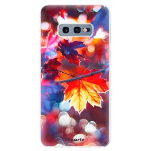 Silikonové odolné pouzdro iSaprio Lístky na Podzim 02 na mobil Samsung Galaxy S10e