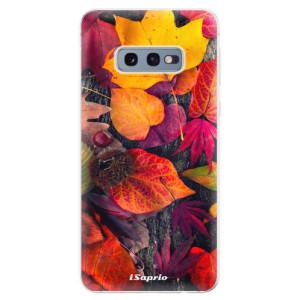 Silikonové odolné pouzdro iSaprio Popadané Lístky 03 na mobil Samsung Galaxy S10e