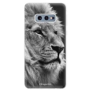 Silikonové odolné pouzdro iSaprio BW Lev 10 na mobil Samsung Galaxy S10e