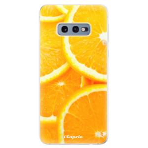 Silikonové odolné pouzdro iSaprio Pomeranče na mobil Samsung Galaxy S10e