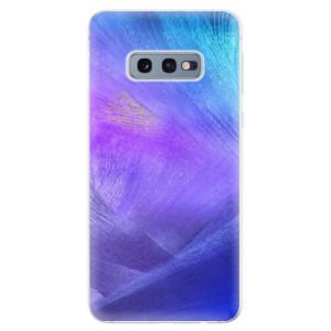 Silikonové odolné pouzdro iSaprio Fialové Peří na mobil Samsung Galaxy S10e