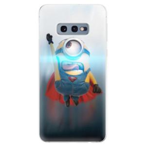 Silikonové odolné pouzdro iSaprio Mimoň Superman 02 na mobil Samsung Galaxy S10e