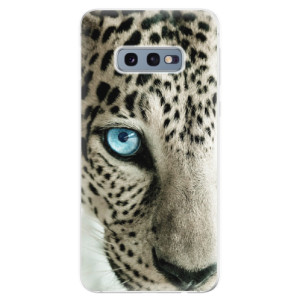 Silikonové odolné pouzdro iSaprio Bílý Panther na mobil Samsung Galaxy S10e