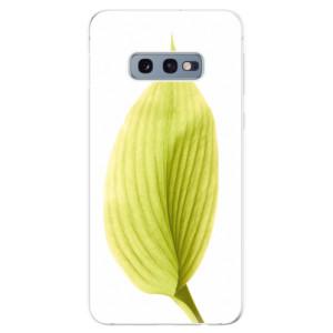 Silikonové odolné pouzdro iSaprio Zelený List na mobil Samsung Galaxy S10e