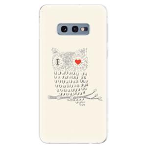 Silikonové odolné pouzdro iSaprio Sova Love na mobil Samsung Galaxy S10e