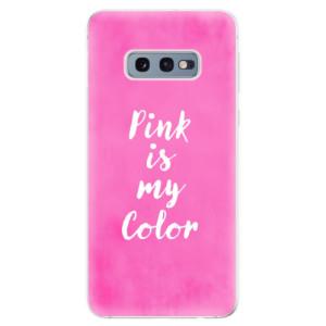 Silikonové odolné pouzdro iSaprio Pink is my color na mobil Samsung Galaxy S10e