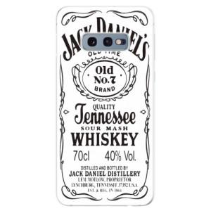 Silikonové odolné pouzdro iSaprio Jack White na mobil Samsung Galaxy S10e