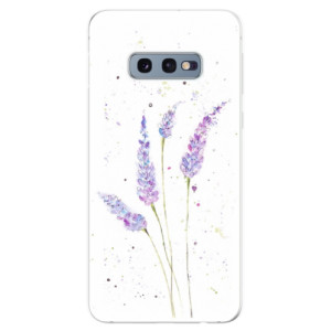 Silikonové odolné pouzdro iSaprio Levandule na mobil Samsung Galaxy S10e