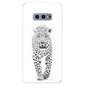Silikonové odolné pouzdro iSaprio Bílý Jaguár na mobil Samsung Galaxy S10e