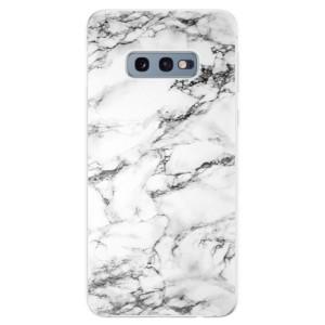 Silikonové odolné pouzdro iSaprio Bílý Mramor 01 na mobil Samsung Galaxy S10e