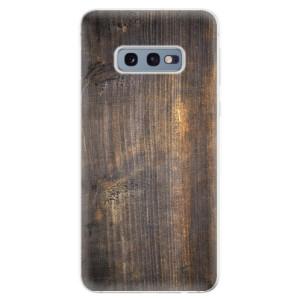 Silikonové odolné pouzdro iSaprio Staré Dřevo na mobil Samsung Galaxy S10e