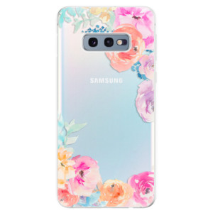 Silikonové odolné pouzdro iSaprio Flower Brush na mobil Samsung Galaxy S10e