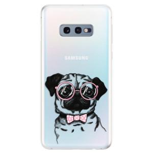 Silikonové odolné pouzdro iSaprio Mops na mobil Samsung Galaxy S10e
