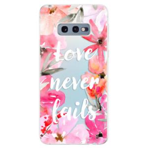 Silikonové odolné pouzdro iSaprio Love Never Fails na mobil Samsung Galaxy S10e