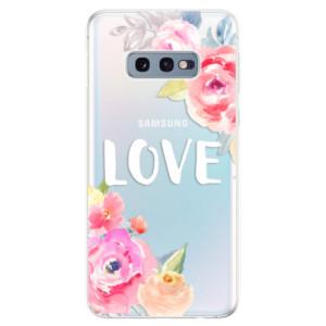 Silikonové odolné pouzdro iSaprio Love na mobil Samsung Galaxy S10e
