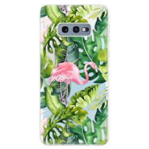 Silikonové odolné pouzdro iSaprio Plameňák v Džungli 02 na mobil Samsung Galaxy S10e