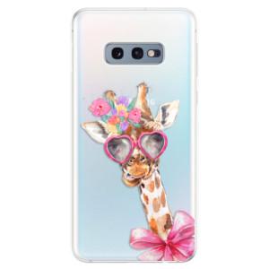 Silikonové odolné pouzdro iSaprio Žirafa Dámička na mobil Samsung Galaxy S10e