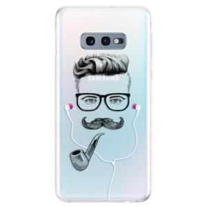 Silikonové odolné pouzdro iSaprio Knírač s fajfkou 01 na mobil Samsung Galaxy S10e