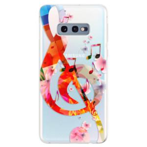 Silikonové odolné pouzdro iSaprio Houslový Klíč 01 na mobil Samsung Galaxy S10e